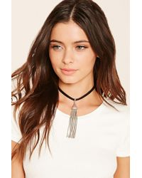 Forever 21 | Metallic Faux Leather Snake Choker | Lyst