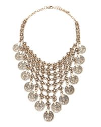 Forever 21   Metallic Medallion Statement Necklace   Lyst