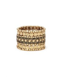 Forever 21 | Metallic Etched Stretch Bracelet | Lyst