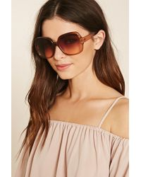 Forever 21 Brown Oversized Square Sunglasses