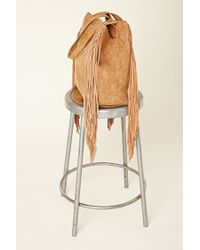 Forever 21 - Natural Izzy & Ali Fringed Tote - Lyst