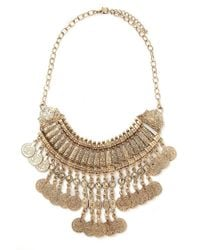 Forever 21 | Metallic Coin Statement Necklace | Lyst