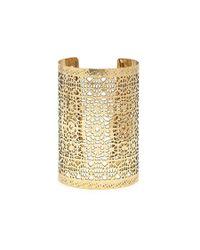 Forever 21 | Metallic Ornate Cutout Cuff | Lyst