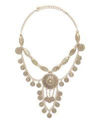 Forever 21 | Metallic Sunburst Statement Necklace | Lyst