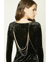 Forever 21 | Metallic Layered Body Chain | Lyst