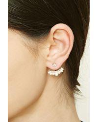 Forever 21   Metallic Faux Pearl Ear Jackets   Lyst