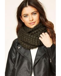 Forever 21 | Green Open-knit Infinity Scarf | Lyst