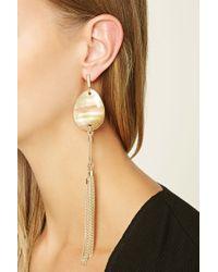 Forever 21 | Metallic Faux Stone Duster Earrings | Lyst