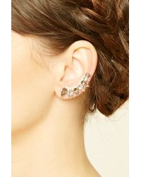 Forever 21 | Metallic Faux Gem Ear Pins | Lyst
