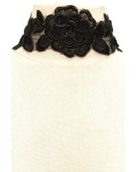 Forever 21 | Black Floral Embroidered Choker | Lyst