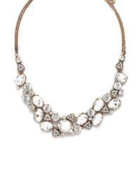 Forever 21 | Metallic Cubic Zirconia Necklace | Lyst