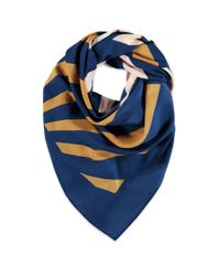 Forever 21 - Blue Colorblocked Square Scarf - Lyst