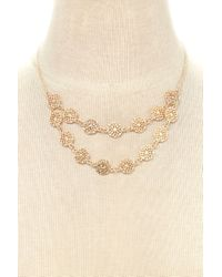 Forever 21 | Metallic Filigree Pendant Jewelry Set | Lyst