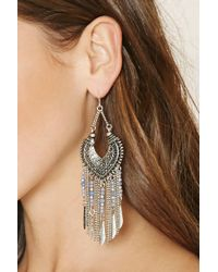 Forever 21 - Metallic Chained Chandelier Earrings - Lyst