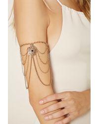 Forever 21 - Metallic Filigree Chain Arm Bracelet - Lyst