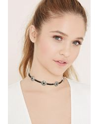 Forever 21 - Black Faux Leather Choker - Lyst
