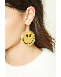 Forever 21 | Multicolor Happy Face Drop Earrings | Lyst