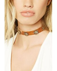 Forever 21 | Brown Floral Ornate Choker | Lyst