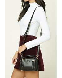 Forever 21 | Black Faux Leather Mini Satchel | Lyst