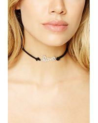 Forever 21 - Metallic Love Choker Set - Lyst