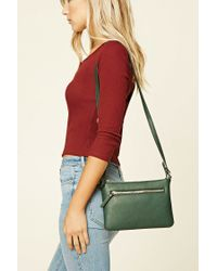 Forever 21 | Green Faux Leather Crossbody | Lyst