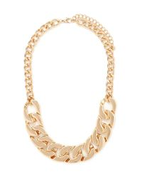 Forever 21 | Metallic Chunky Curb Chain Necklace | Lyst
