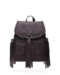 Forever 21 - Black Faux Leather Tassel Backpack - Lyst