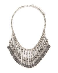 Forever 21 | Metallic Ornate Statement Necklace | Lyst