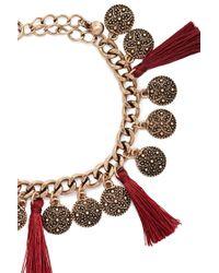 Forever 21   Metallic Tasseled Coin Bracelet   Lyst