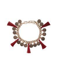 Forever 21 | Metallic Tasseled Coin Bracelet | Lyst