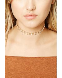 Forever 21 | Natural Faux Pearl Choker | Lyst