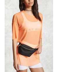 Forever 21 | Black Zippered Fanny Pack | Lyst