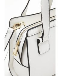 Forever 21 - Natural Long Strap Faux Leather Satchel - Lyst