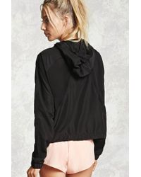 Forever 21 | Black Active Mesh-paneled Jacket | Lyst