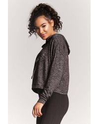 Forever 21 - Gray Active Push Yourself Graphic Hoodie - Lyst