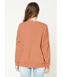 Forever 21 - Multicolor Oversized Sweatshirt - Lyst