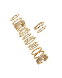Forever 21 - Metallic Rhinestone Stackable Ring Set - Lyst