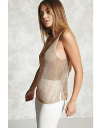 Forever 21 - Multicolor Chainmail Tank Top - Lyst