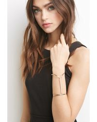 Forever 21 - Metallic Linear V-notch Cuff - Lyst