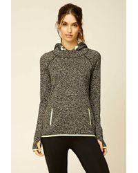 Forever 21 - Gray Active Marled Knit Hoodie - Lyst