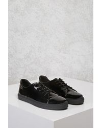 Forever 21 - Black Faux Patent Leather Sneakers - Lyst