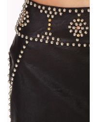 Forever 21 - Black Out West Studded Mini Skirt - Lyst