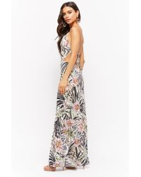 Forever 21 - Multicolor Strappy Floral Print Maxi Dress - Lyst