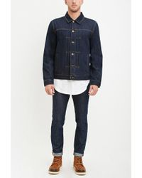 Forever 21 - Blue Classic Denim Jacket for Men - Lyst
