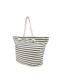Forever 21 - Blue Striped Tote Bag - Lyst