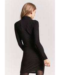 Forever 21 - Black Turtleneck Bodycon Dress - Lyst