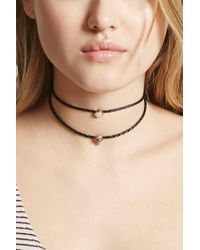 Forever 21 - Multicolor Faux Gem Layered Choker - Lyst