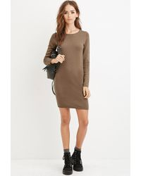 Forever 21 - Natural Knit Jumper Dress - Lyst