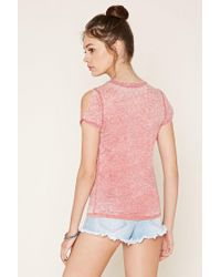Forever 21 - Natural Burnout Knit Tee - Lyst