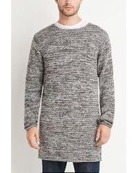 Forever 21 | Black Longline Marled Sweater for Men | Lyst
